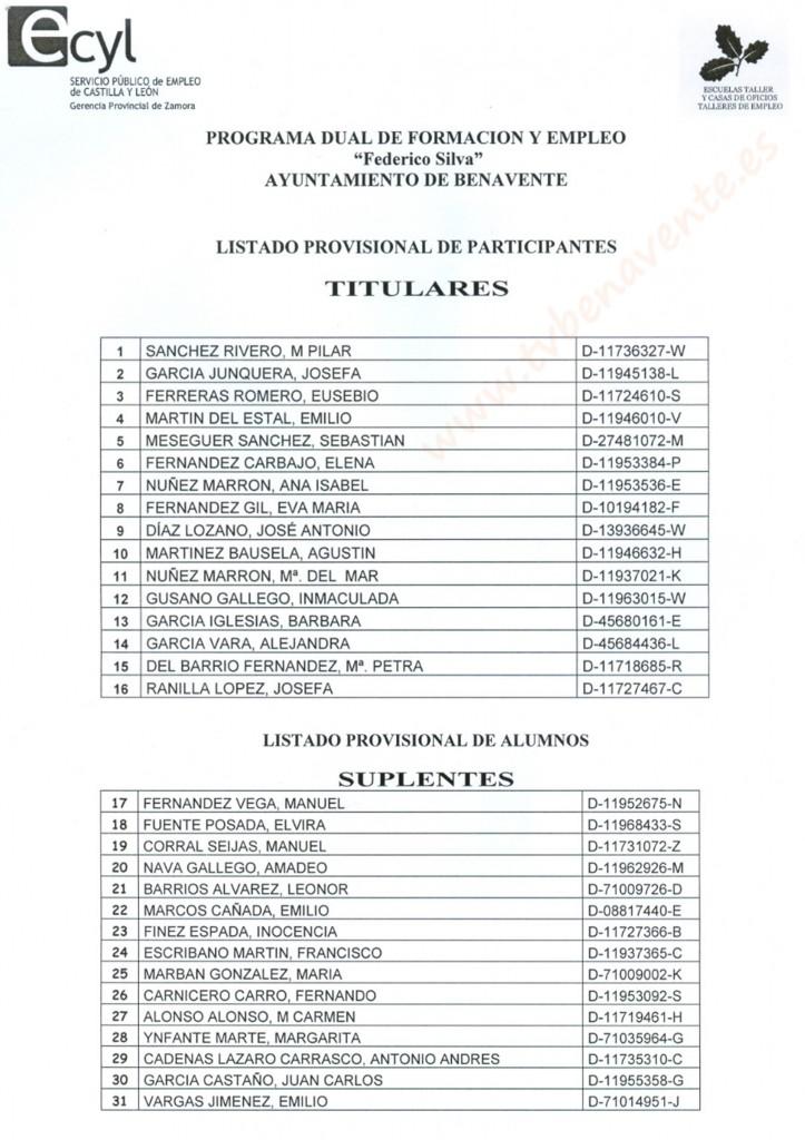 lista provisional 1 programa fed silva 2013