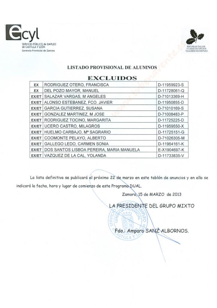 lista provisional 2 programa fed silva 2013