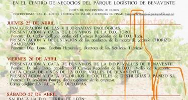 """COMIENZAN HOY LAS VIII JORNADAS ENOLÓGICAS DE """"VIÑA, VINO Y CATA, CIUDAD DE BENAVENTE"""""""