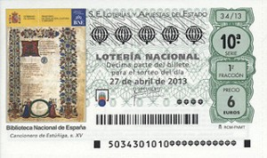 loteria 27 abril 2013