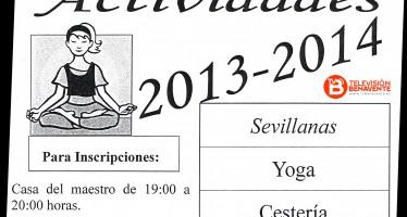 ACTIVIDADES 2013 – 2014 EN EL BARRIO SANTA CLARA