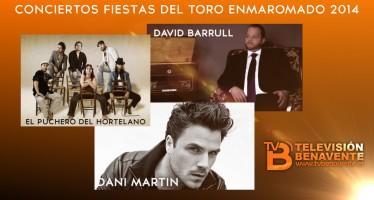 DANI MARTIN, DAVID BARRULL Y EL PUCHERO DEL HORTELANO SERÁN LOS CONCIERTOS PARA LAS FIESTAS DEL TORO ENMAROMADO 2014