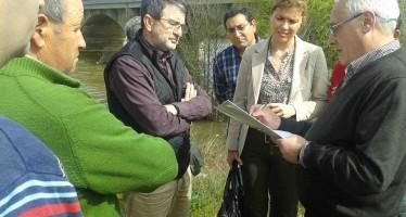 La subdelegada del Gobierno Clara San Damián visita las zonas afectadas por las inundaciones