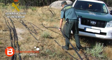 La Guardia Civil detiene a un ciudadano rumano como supuesto autor de tres delitos de robo de cobre en líneas telefónicas