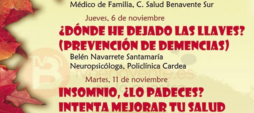 HORARIO DE LAS JORNADAS DEL OTOÑO SALUDABLE EN BENAVENTE
