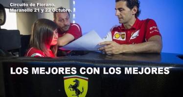 Marta Ariza satisfecha tras los test de la Ferrari Driver Academy en Fiorano.
