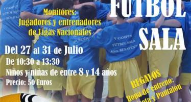 Jugadores y técnicos de renombre conducirán el VI Campus de Fútbol Sala del At. Benavente