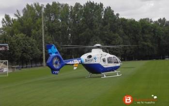 Trasladado en helicóptero un hombre de 50 tras sufrir un accidente en Vega de Tera
