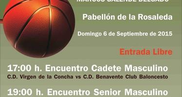 Dos partidos de baloncesto homenajearán a Marcos Galende Delgado en Benavente
