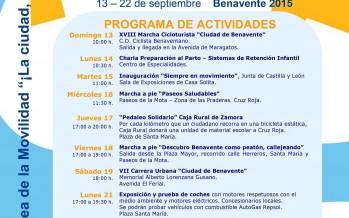 Programa de actividades de la semana de la movilidad – Benavente 2015
