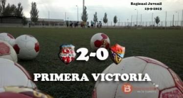 Dos goles de Unai Huerga dan al juvenil tomatero la primera victoria