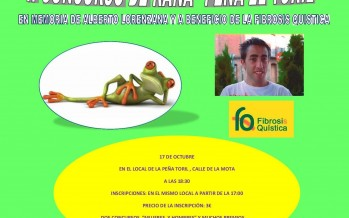 La peña el toril convoca un concurso de rana a beneficio de la enfermedad, fibrosis quística