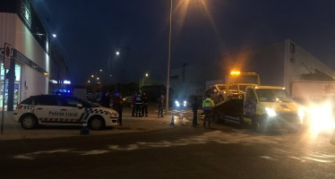 Accidente de tráfico en el casco urbano de Benavente