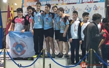 El Salvamento Benavente establece dos records nacionales y se clasifica en tercer lugar en el XXX Campeonato de España de invierno 2016