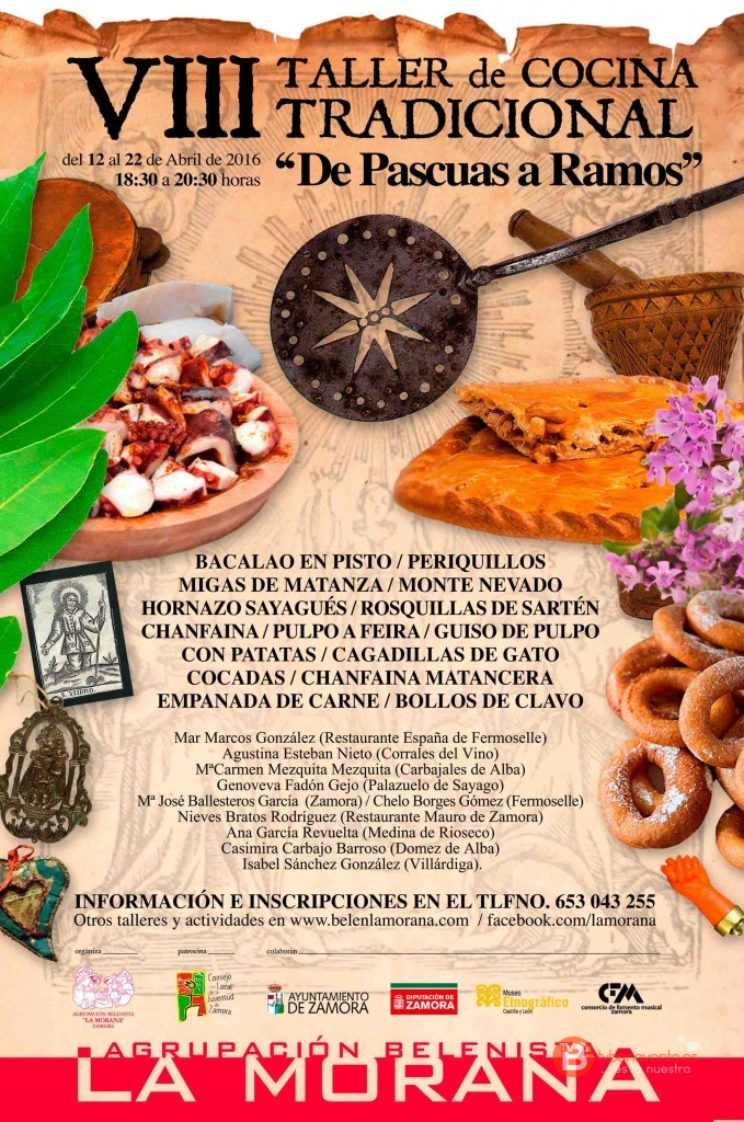Taller Cocina Tradicional La Morana - Zamora