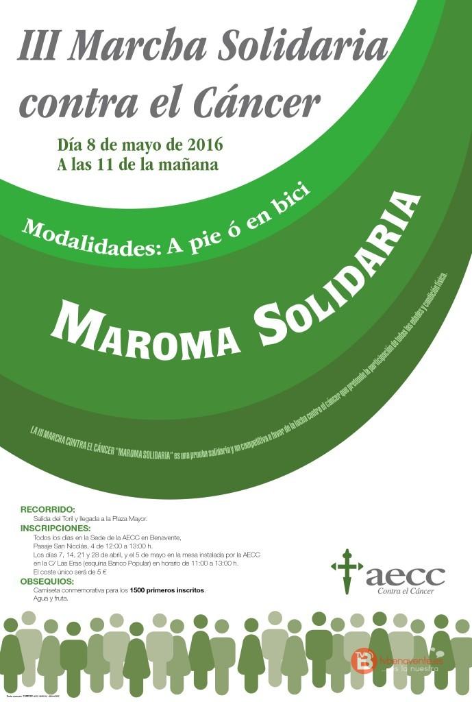 Cartel III Marcha Solidaria Benavente