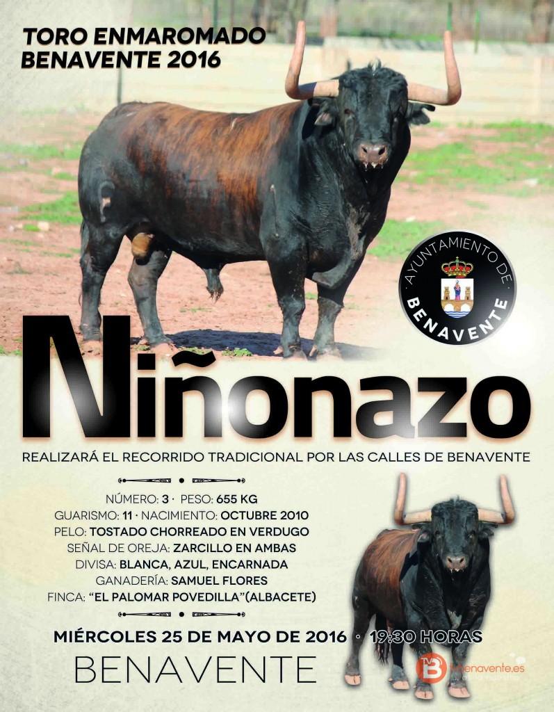 TORO ENMAROMADO 2016 - BENAVENTE - CARTEL2