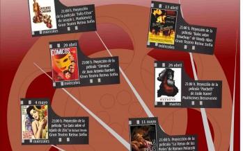 Programa de la proyección de películas en el Teatro Reina Sofía de Benavente