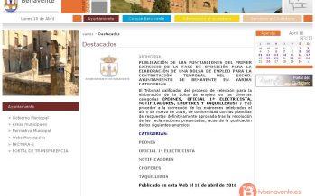 Publicadas las primeras puntuaciones de los exámenes para la bolsa de empleo del ayuntamiento de Benavente