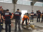 Bomberos de parques provinciales realizan un curso sobre herramientas de rescate en Benavente