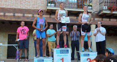 María José García y Victoria Vaquero Flórez consiguen podio en el triatlón Cross de Astudillo