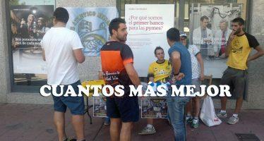 El Atlético Benavente acercó su campaña de socios a la calle