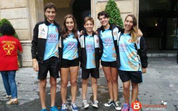 Cinco deportistas del Salvamento Benavente becados por la ciudad de Gijón