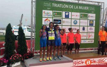 Las integrantes del Triatlon Dual Bike ganan el segundo puesto en Gijon