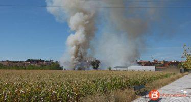 VIDEO: Incendio en la Vía del Canal de Benavente