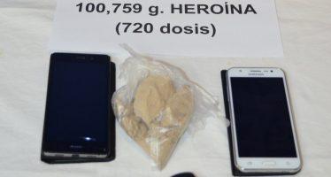 La Policía Nacional incauta a un joven más de 100 gramos de heroína