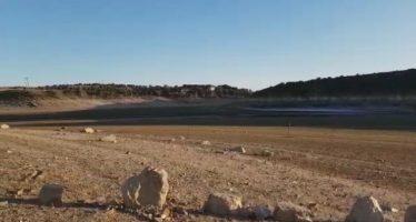 El Embalse de Ricobayo en estado crítico de sequedad por la ausencia de lluvia