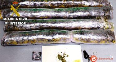 Incautados 4,5 kg de Marihuana por la Guardia Civil de Zamora