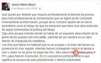 El PP reprueba la actitud del Concejal de Personal tras las críticas a Televisión Benavente