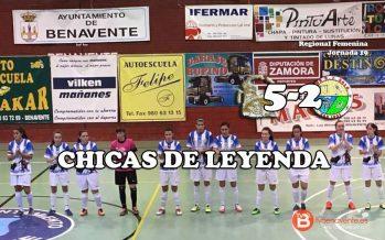 El fútbol sala femenino hace historia con la primera victoria del Caja Rural en casa.