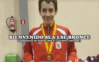 Aarón Carracedo se cuelga la medalla de bronce en el Campeonato de España cadete