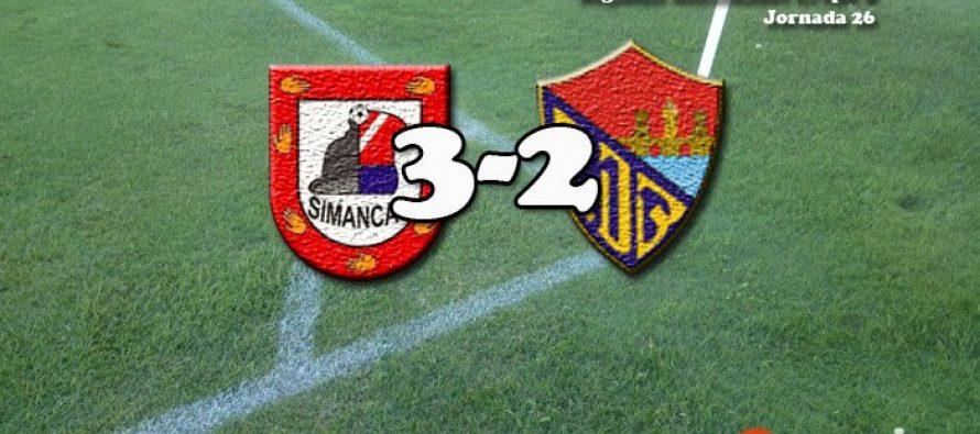 El C.D Benavente pierde en cinco minutos un marcador favorable de 0 a 2 ante el Simancas