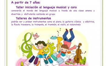 """La Escuela """"Duquesa Pimentel"""" organiza los Talleres de iniciación Musical en Familia"""