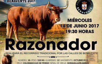 """""""RAZONADOR"""" Toro Enmaromado Benavente 2017"""