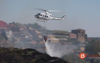 """Gran incendio en los cuestos de """"Las Dibujas"""" en el Barrio San Isidro"""