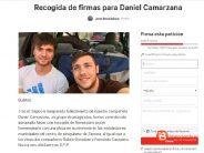 Un grupo de piragüistas recoge firmas para dedicar una placa a los montañeros fallecidos