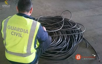 Dos detenidos por robar cable de cobre en una explotación agrícola de Laguna de Negrillos