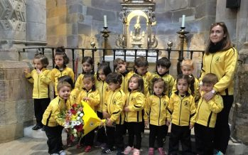 """GALERÍA: Visita de los alumnos de """"La Vega"""" a la patrona de Benavente"""