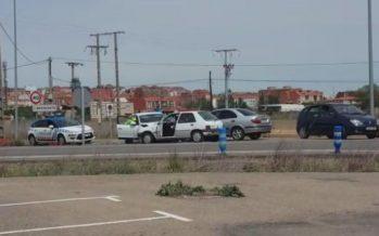 Accidente de tráfico en la N-525 en el cruce de Los Salados