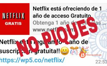 Una nueva estafa de Whatsapp que promete cuentas premium de Netflix