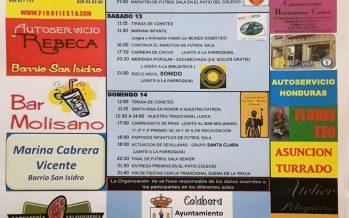 Programa de fiestas del Barrio San Isidro de Benavente