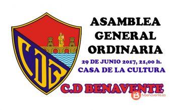 El 29 de Junio celebrará el C.D Benavente su Asamblea General Ordinaria