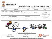 Actividades acuáticas en las Piscinas Municipales de Benavente