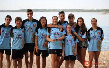 Carolina, Javier e Iria campeones de Castilla y León en aguas abiertas