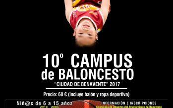 Abierta la inscripción del 10º Campus de Baloncesto Ciudad de Benavente