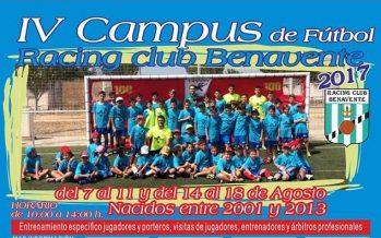 4ª Edición del Campus Racing Club Benavente para este verano